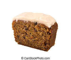 Carrot cake isolated - slice of carrot cake isolated on ...