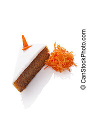 Carrot cake isolated.