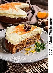 Carrot cake with mascarpone