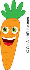 carrot cartoon over white background. vector illustration