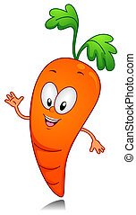 Carrot - Illustration of a Carrot Character Gesturing...