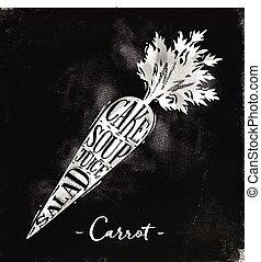 Carrot cutting scheme chalk