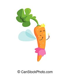 Carrot Dressed As Fairy Princess With Diadem And Skirt, Part...