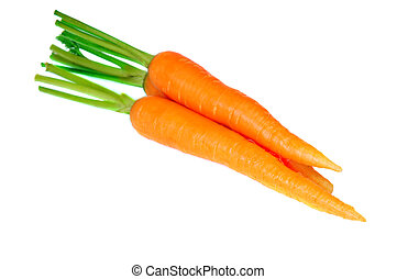 Carrot fresh vegetable group on white background