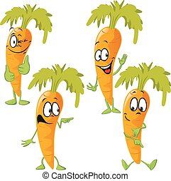 carrot - funny vector cartoon