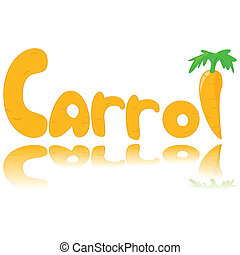 Carrot graphic - Cartoon illustratiion showing a carrot and...