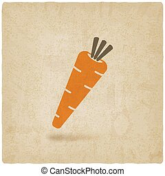 Carrot icon old background