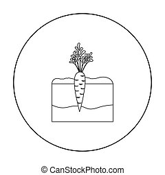 Carrot icon outline. Single plant icon from the big farm, garden, agriculture outline.