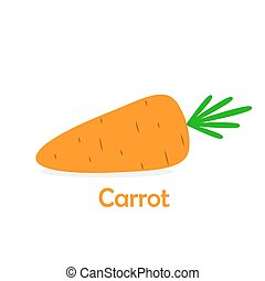 Carrot icon. Vector illustration.