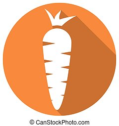 Carrot Icon with a long shadow