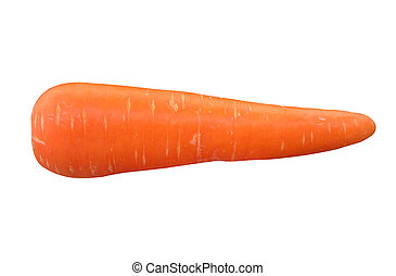 Carrot isolated on white background.