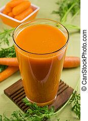 Carrot juice - A glass of carrot juice