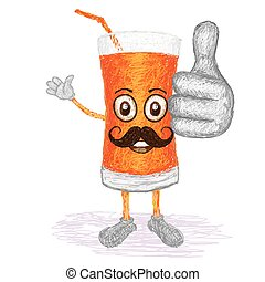 carrot juice mustache