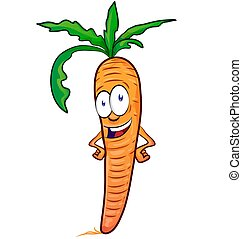 carrot mascot cartoon isolated on white background