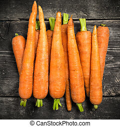 Carrot on the old boards