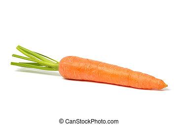 Carrot on White - Fresh red carrot on white background