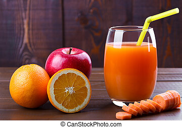Carrot orange apples juice