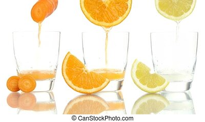 carrot orange lemon juice vitamin