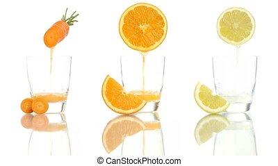 carrot orange lemon juice vitamin - carrot orange lemon...