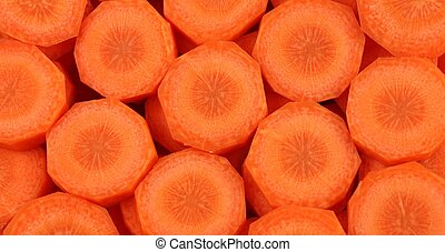 Carrot Pieces - Raw carrot pieces - a food background