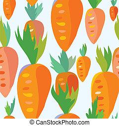 Carrot seamless funny pattern - cartoon design