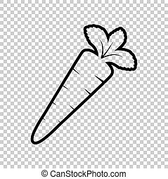 Carrot sign. Line icon