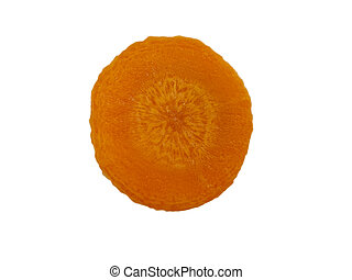 carrot sliced ??isolated on a white background