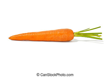 Carrot - Fresh carrot on a white background