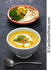 carrot tahini soup with chickpea