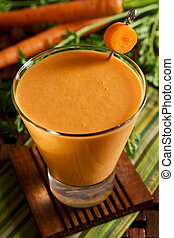 Carrot tofu smoothie