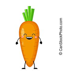 Carrot vector illustration in flat style isolated on white bac