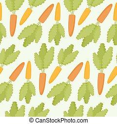 Carrot vector seamless pattern