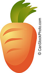 Carrot vegetable icon - vegetable icon, chubby squarish...