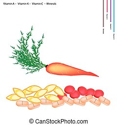 Carrot with Vitamin A, K, C and Minerals