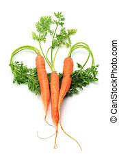 Carrots Arranged in Heart Shape