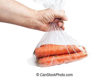 Carrots. - Carrots in plastic bag ,