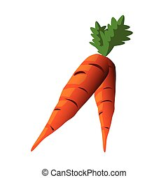 carrots color illustration design