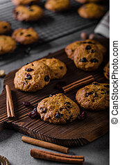 Carrots cookies with cranberries