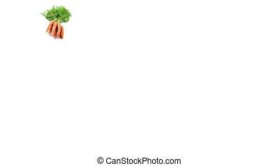 Carrots - Fresh carrots isolated on white background, slide...