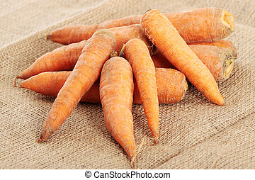 Carrots - Fresh ecologycal carrots (eco food concept)