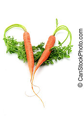 Carrots in Heart Shape