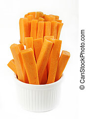 carrots in white bowl