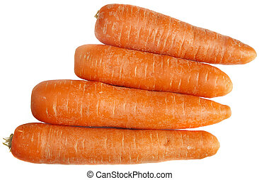 Carrots isolated on a white background.