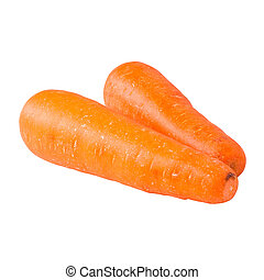 carrots isolated on white background,with clipping path