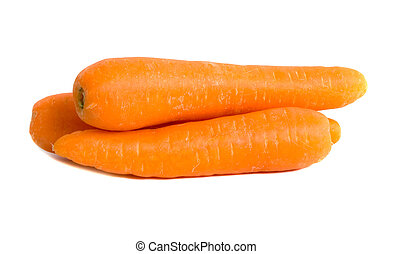 Carrots - Market fresh carrots isolated over white...