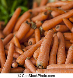 Carrots on the market