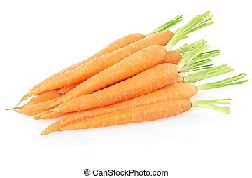 Carrots on white - Carrots isolated on white, clipping path ...