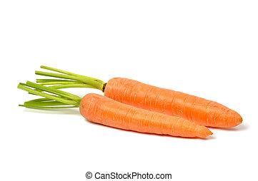 Carrots on White - Fresh red carrots on white background