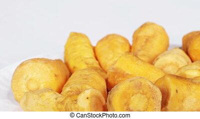 Carrots peeled
