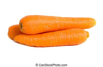 Carrots - Market fresh carrots isolated over white...